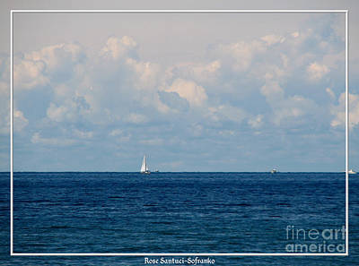 Photograph - Sailboat On Lake Ontario by Rose Santuci-Sofranko
