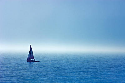 Sailboat On The Water, Wahnekewaning Art Print by Mike Grandmailson