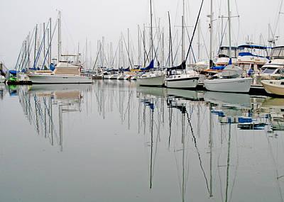 Sailboat Reflections Art Print by Gil Kanat