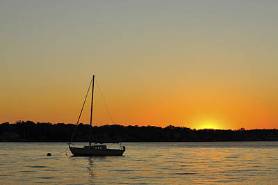 Photograph - Sailboat Silhouette by Terry DeLuco