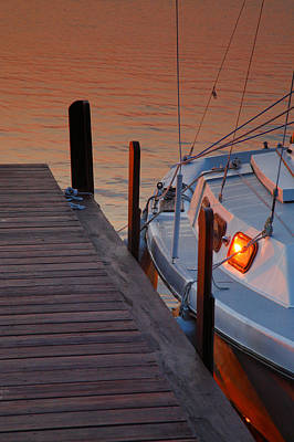 Sailboat Sunrise Art Print by Steven Ainsworth