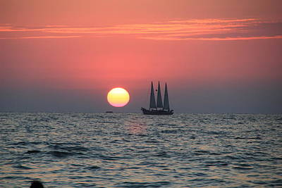Photograph - Sailboat Sunset 1 by RobLew Photography