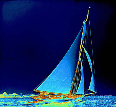 Sailboat Wayward 1890 Art Print by Padre Art