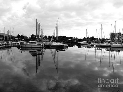 Art Print featuring the photograph Sailboats At Bluffers Marina Toronto by Susan  Dimitrakopoulos
