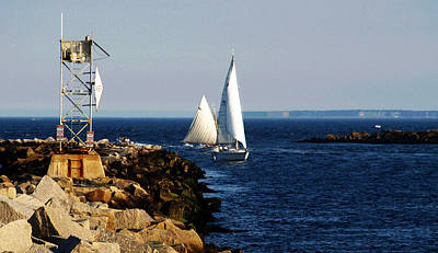 Seascape Photograph - Sailboats At Newburyport by Mary Capriole