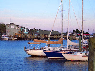 Sailboats In From The Sea Print by Garland Johnson