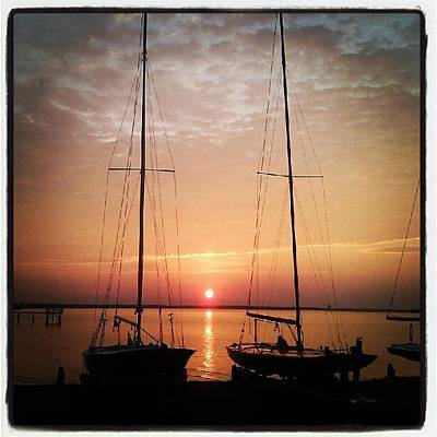 Transportation Photograph - Sailboats In The Sunset by Dustin K Ryan
