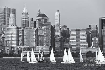 Photograph - Sailboats On The Hudson V by Clarence Holmes