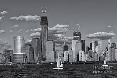 Photograph - Sailboats On The Hudson Vi by Clarence Holmes