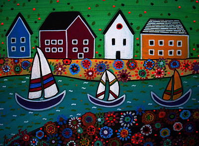 Painting - Sailboats by Pristine Cartera Turkus