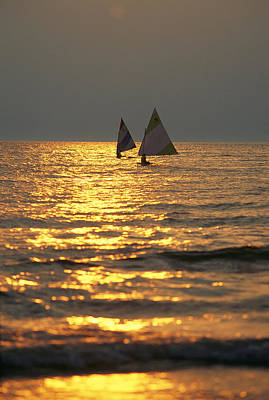 Southwick Photograph - Sailboats Travel Across The Golden by Skip Brown