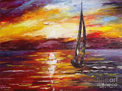Painting - Sailing by AmaS Art