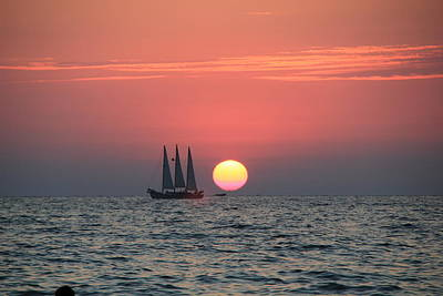 Sailing Away From The Sun Art Print