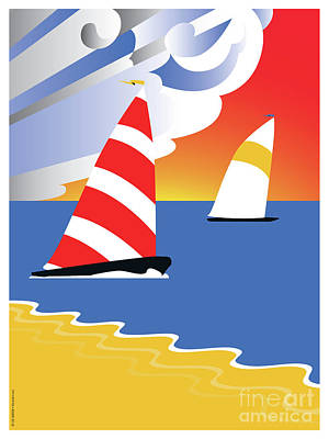 Sailing Before The Wind Art Print