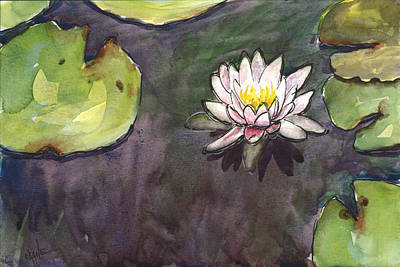 Waterlilies Painting - Sailing Bloom by Christine Camp