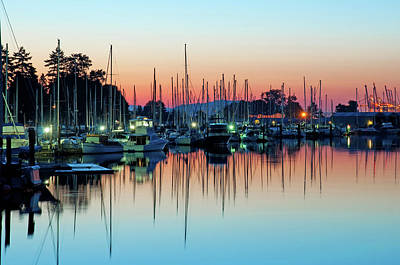 Sailing Boats In Coal Harbour Art Print