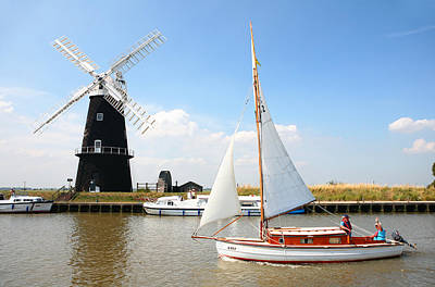Photograph - Sailing By Berney Arms Windmill by Paul Cowan