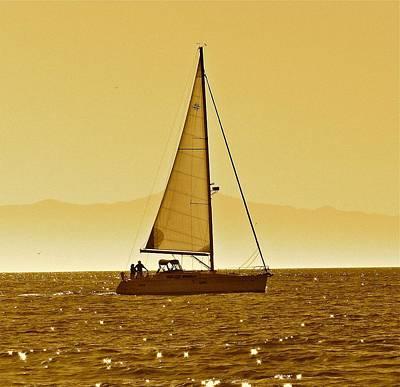 Santa Cruz Island Photograph - Sailing Channel Islands by Liz Vernand