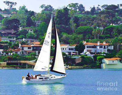 Sailing Home Art Print by L J Oakes