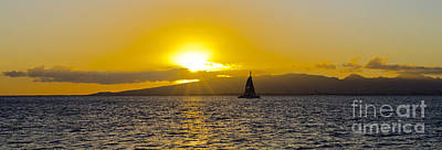 Photograph - Sailing Into The Sunset by MaryJane Armstrong