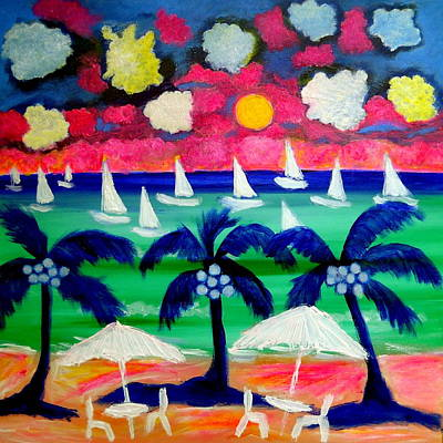 Painting - Sailing Mexico by Ted Hebbler