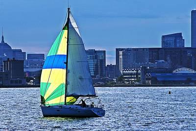 Photograph - Sailing On Boston Harbor by Joe Faherty