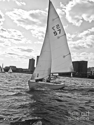 Photograph - Sailing On The Charles by Scott Hervieux