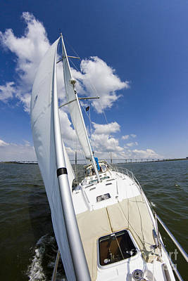 Yacht Photograph - Sailing On The Charlesotn Harbor Beneteau Sailboat by Dustin K Ryan
