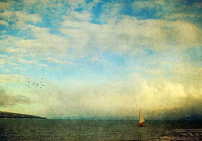 Art Print featuring the photograph Sailing On The Sea by Michele Cornelius