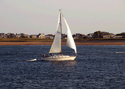 Photograph - Sailing Past Plum Island by Mary Capriole