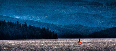 Sailing Priest Lake Art Print by David Patterson