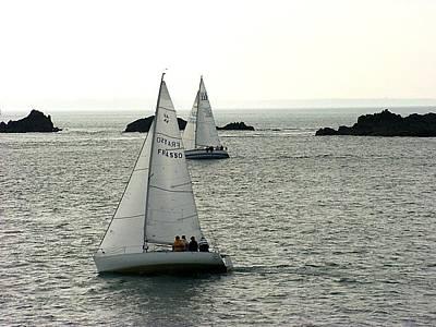 Photograph - Sailing Saint-malo Bay by Keith Stokes