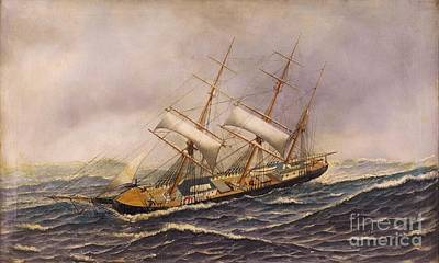 Sailing Ship - Saint Mary Art Print by Pg Reproductions