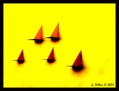 Digital Art - Sailing Teardrops by Grace Dillon