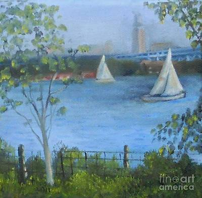 Painting - Sailing The Delaware by Marlene Book
