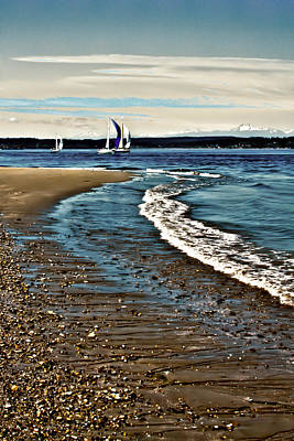 Sailing The Puget Sound Art Print by David Patterson