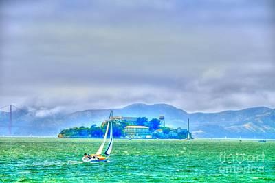 Sailing To Alcatraz Art Print