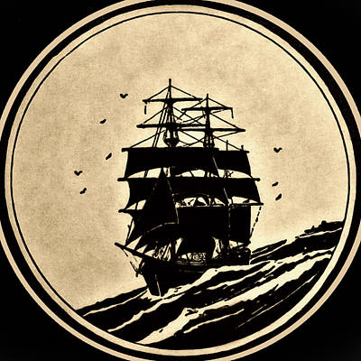 Sailing Vessel Art Print by Susan Leggett