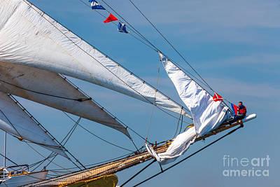 Photograph - Sailor On The Bowsprit by Susan Cole Kelly