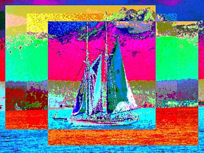 Mountain Digital Art - Sailors Delight 2 by Tim Allen
