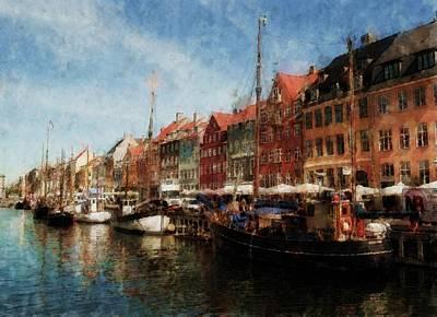 Copenhagen Denmark Digital Art - Sailor's District by Wade Aiken