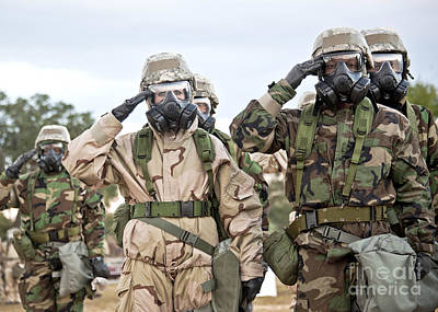 Obscured Face Photograph - Sailors Dressed In Full Mission by Stocktrek Images