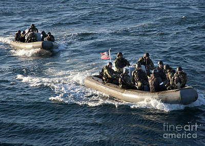 Inflatable Photograph - Sailors Participate In A Visit, Board by Stocktrek Images