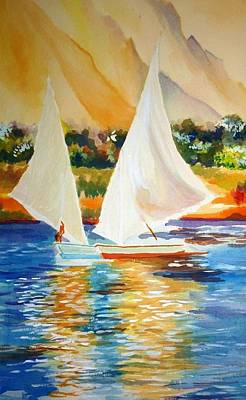 Painting - Sails by Parag Pendharkar