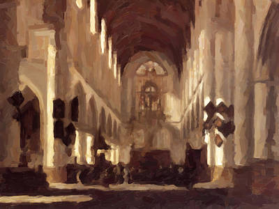 Lights Painting - Saint Bavo Church by Nop Briex