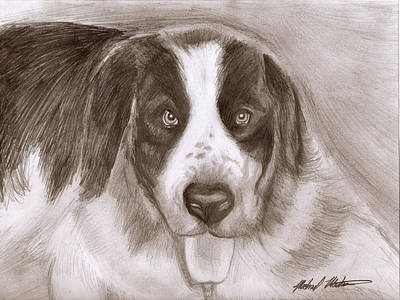 Saint Bernard Art Print by Michael Mestas
