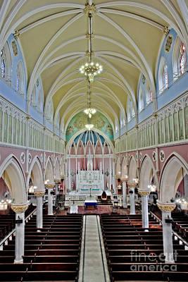 Saint Bridgets Gothic Church Art Print by Susan Candelario