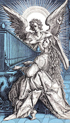 Saint Cecilia (d.230) Art Print by Granger