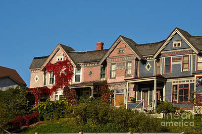 Digital Art - Saint Johns New Brunswick Canada Victorian Houses by Eva Kaufman