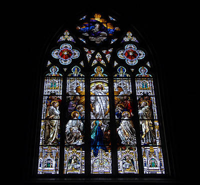 Saint Johns Stained Glass Art Print by David Lee Thompson